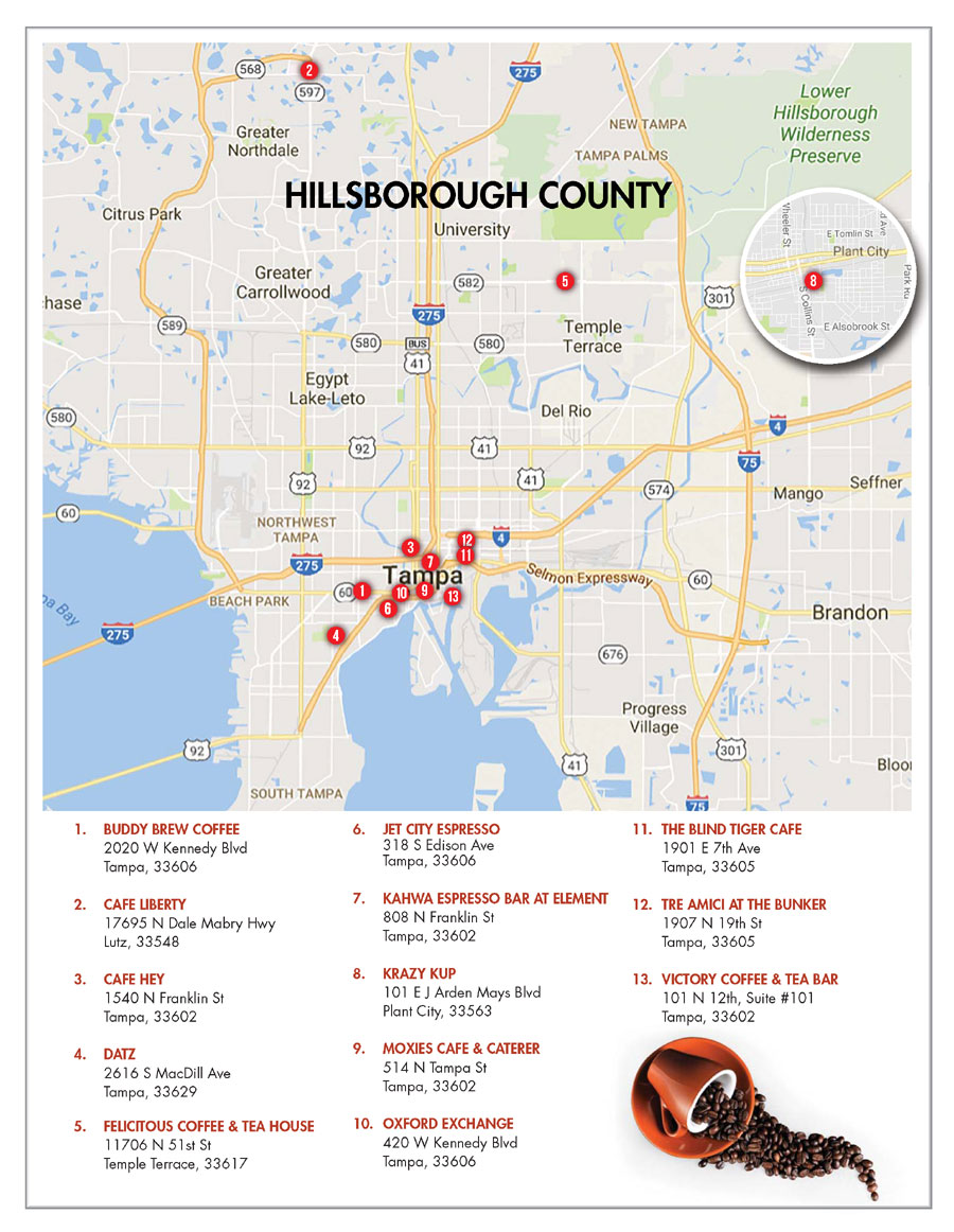 Hillsborough County Neighborhood Coffee Shops