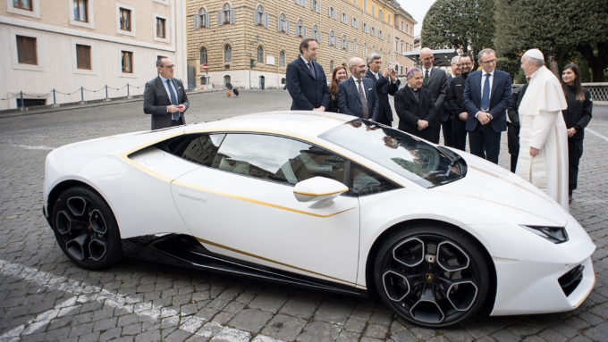 Pope Francis Gets His Own Special Lamborghini